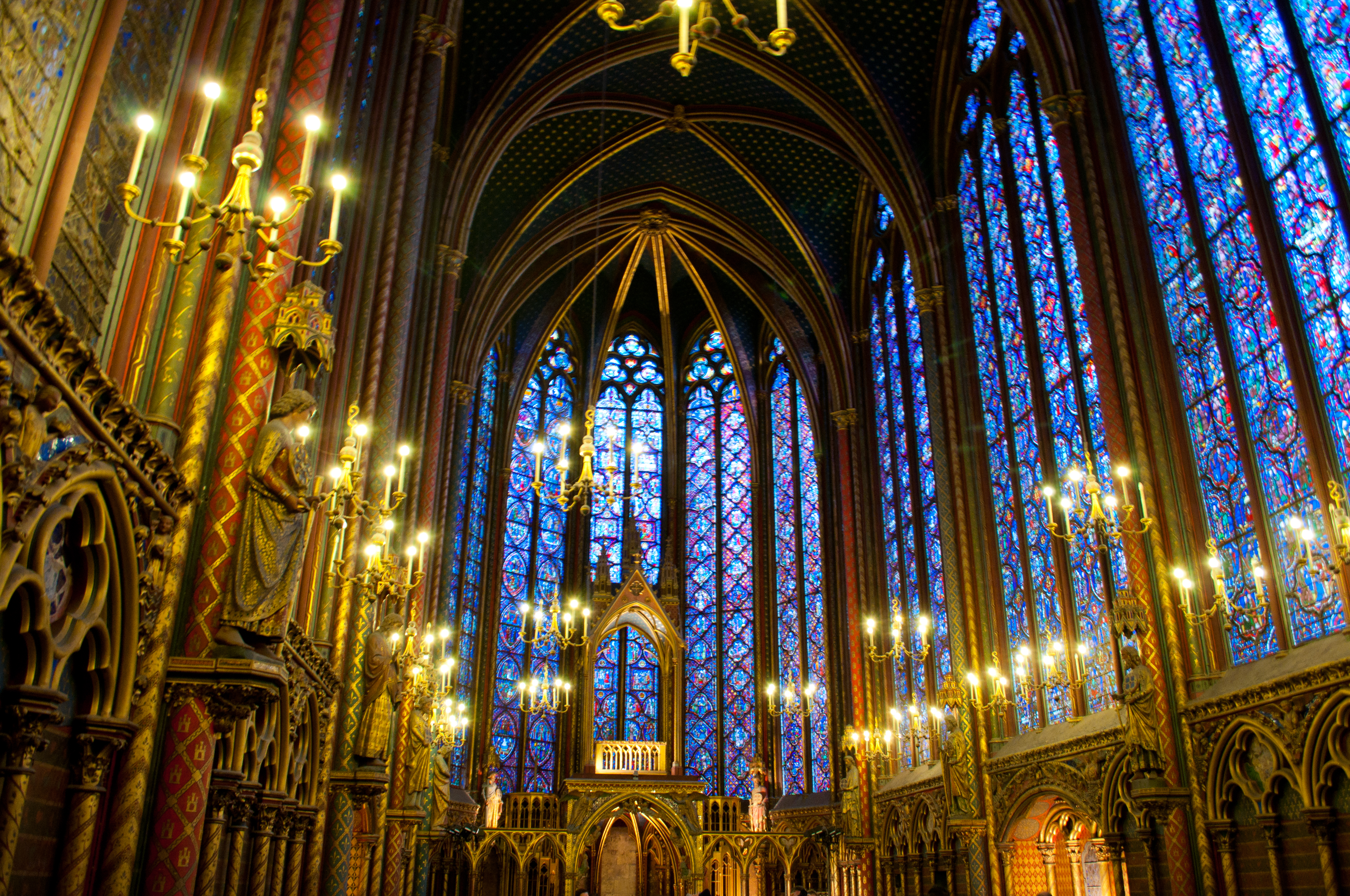 Paris France Sainte Chapelles Dazzling Interior