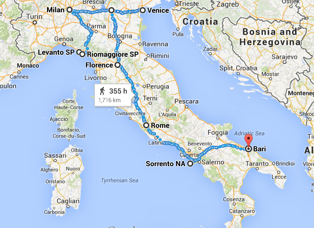 week road trip itinerary italy